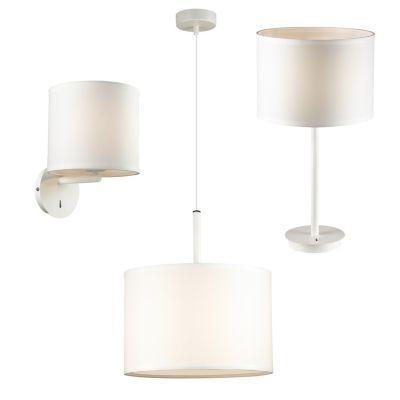 FAVOURITE Lampen-Set mit Tischlampe, Pendelleuchte und Wandleuchte Deckenleuchten weiß