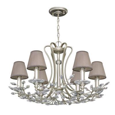 FAVOURITE Kronleuchter Laurel mit kleinen Lampenschirmen Deckenleuchten silber