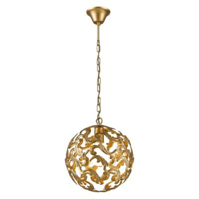 FAVOURITE Hängeleuchte Dorata im Barock-Stil gold