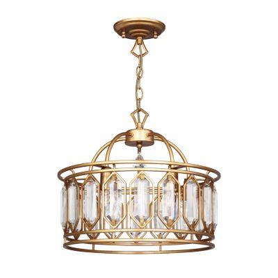 FAVOURITE Hängeleuchte Royalty mit geschliffenen Kristallelementen gold