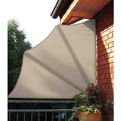 Balkon Sichtschutz Style Grau Hohenverstellbar Grau Angerer