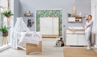 Schardt Kinderzimmer Slide Oak mit 3 türigem Kleiderschrank