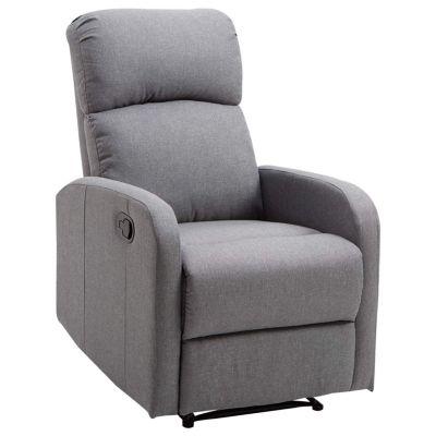HOMCOM Relaxsessel mit Liegefunktion grau