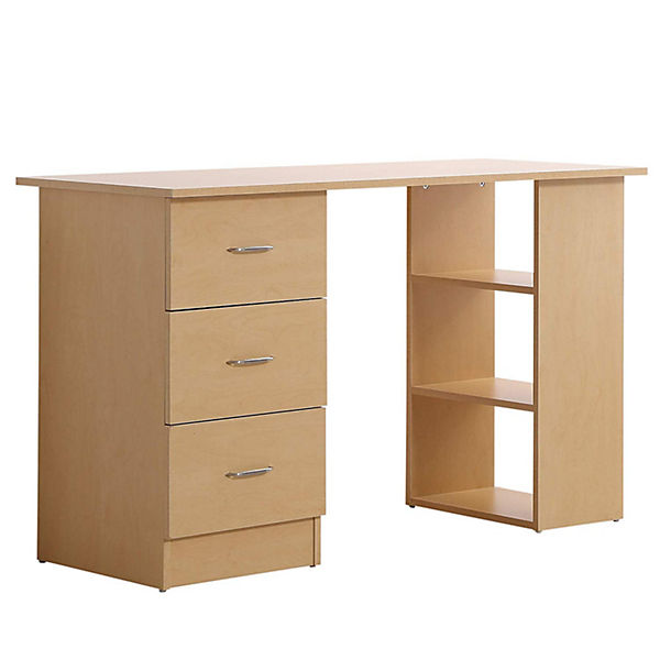 Homcom Schreibtisch Inkl 3 Schubladen Und Regal Schreibtische