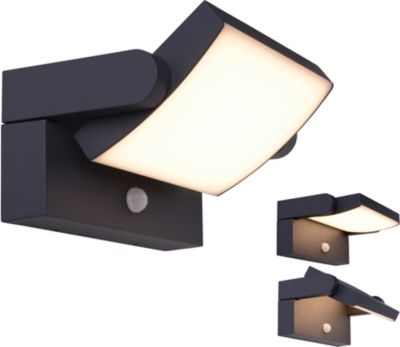 Näve LED-Außenwandleuchte inkl. Bewegungsmelder schwarz