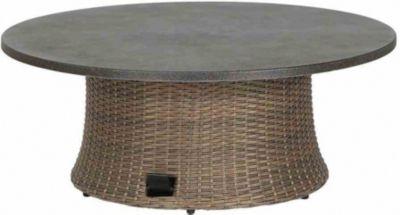Siena Garden Lounge-Tisch ´´Teramo´´, Ø100 x H40/52/65 cm braun