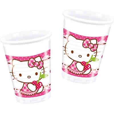 Partybecher Hello Kitty Hearts 200 ml, 8 Stück