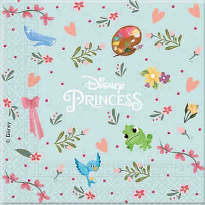 Servietten zweilagig Princess Dare To Dream 33 x 33 cm, 20 Stück