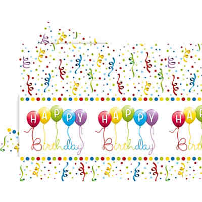 Tischdecke Happy Birthday Streamers 120 x 180 cm