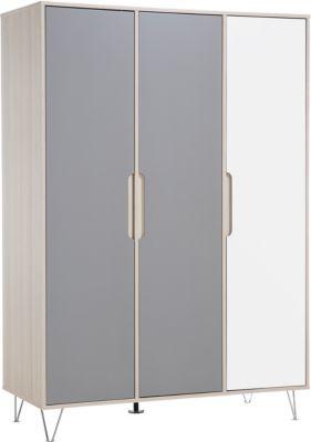 Geuther Kleiderschrank MARIT grau/weiß