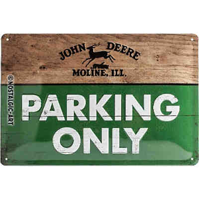 "Blechschild  ""John Deere - Parking Only"" 20 x 30 cm"