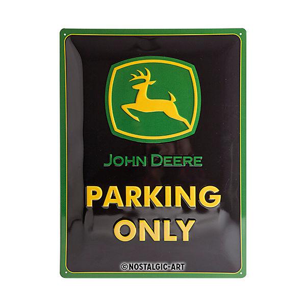 Blechschild John Deere Parking Only 30 X 40 Cm Mehrfarbig