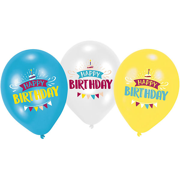 "6 Latexballons My Birthday Party 11"" 4C Druck"
