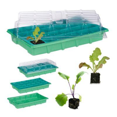 relaxdays Zimmergewächshaus mit 24 Fächern grün   Garten > Gewächshäuser   relaxdays