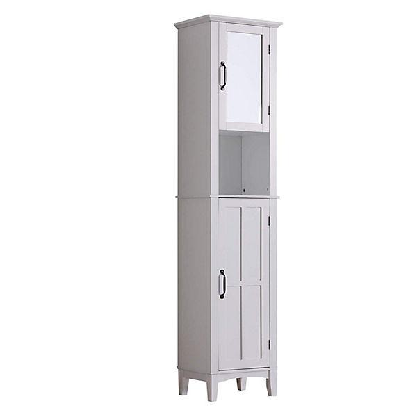 HOMCOM Badezimmerschrank mit Spiegel Badschränke, weiß, HOMCOM | yomonda