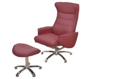 Relaxsessel mit Hocker Sessel rot