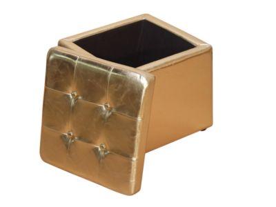 Sitzhocker Hocker mit Stauraum, gold