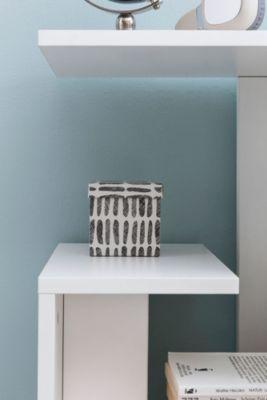 Beistelltisch 35x29,5x60 cm Anstelltisch Sofa Couchtisch Kleiner Wohnzimmertisch Schmaler Tisch, weiß, WOHNLING