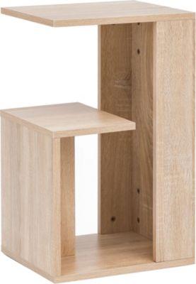 Beistelltisch 35x29,5x60 cm Anstelltisch Sofa Couchtisch Kleiner Wohnzimmertisch Schmaler Tisch, holzfarben, WOHNLING