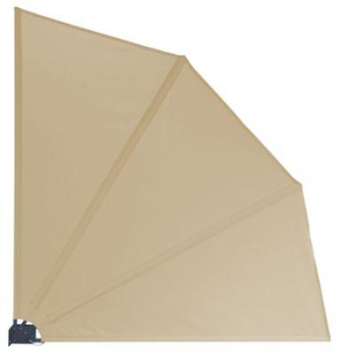 Grasekamp Balkonfächer Premium 140x140cm Sand mit  Wandhalterung Trennwand Sichtschutz beige | Garten > Balkon > Sichtschutz | Grasekamp