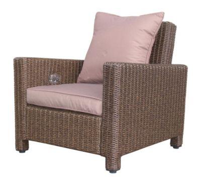 Grasekamp Rattan Lounge Loungesessel 86cm Sessel  Sofa Relaxsessel Schlafsessel Braun braun