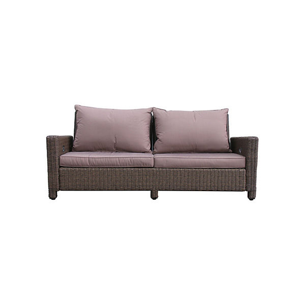 Prime Rattan Lounge Sofa 200Cm Couch Futon Couchgarnitur Braun Grasekamp Interior Design Ideas Greaswefileorg