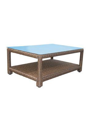 Famous Home Rattan Lounge Tisch 120x80cm Couchtisch  Beistelltisch Braun Gartensofas braun