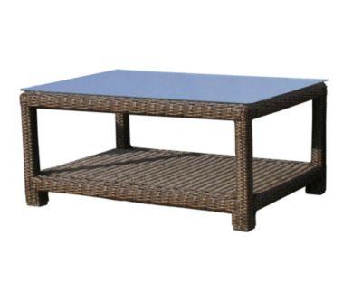 Famous Home Rattan Lounge Tisch 100x70cm Couchtisch  Beistelltisch Pepe Braun braun