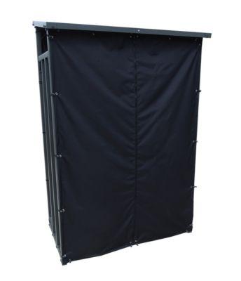 Grasekamp Kaminholzunterstand 130 x 60 x 203 cm  mit Wetterschutz Set Kamin günstig online kaufen