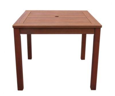 Grasekamp Gartentisch 90x90cm Natur Holztisch  Tisch Gartenmöbel Eukalyptus natur