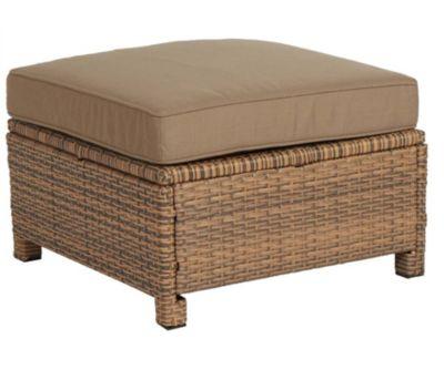Famous Home Rattan Lounge Hocker Brasil 60cm Sofa  mit Kissen Couch Couchtisch braun