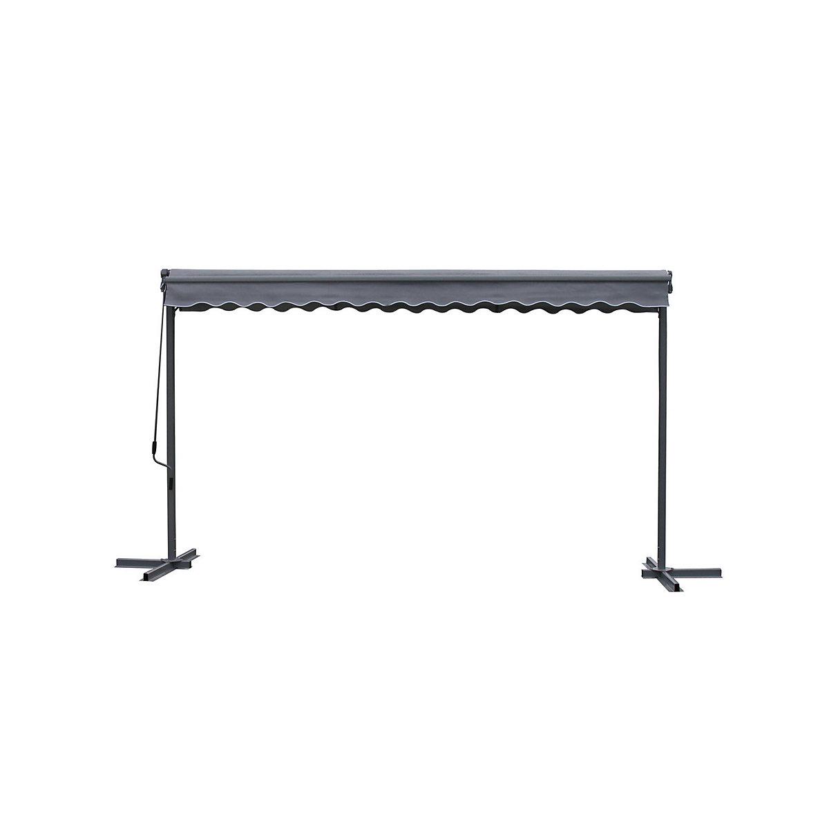 grasekamp schutzh lle 4 meter f r stand markise london terrassen berdachung mobile markise wei. Black Bedroom Furniture Sets. Home Design Ideas