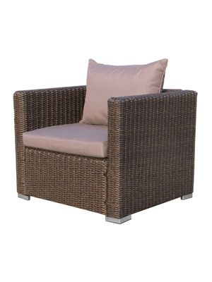 Famous Home Rattan Loungesessel 80cm Pepe Braun Sofa  Relaxsessel Schlafsessel Lounge Sessel braun