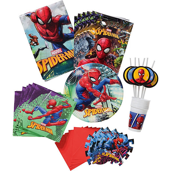 Partyset Spiderman Team Up, 56-tlg.