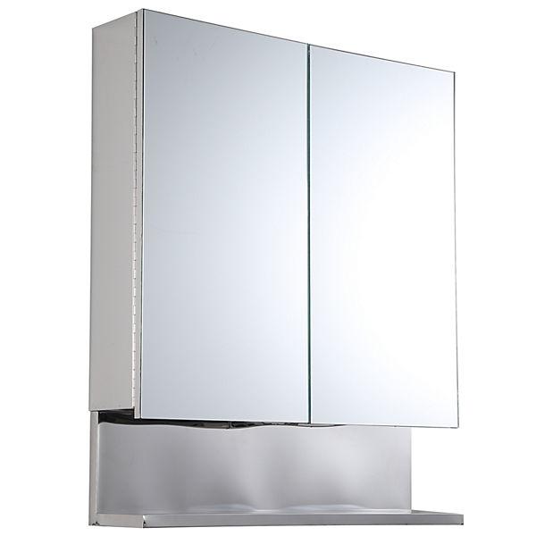 kleankin Spiegelschrank mit Ablage, silber, kleankin