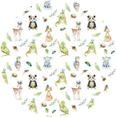 Wandtattoo Kvilis - Bunte Tierwelt - rund mehrfarbig | Dekoration > Wandtattoos > Wandtattoos | yomonda
