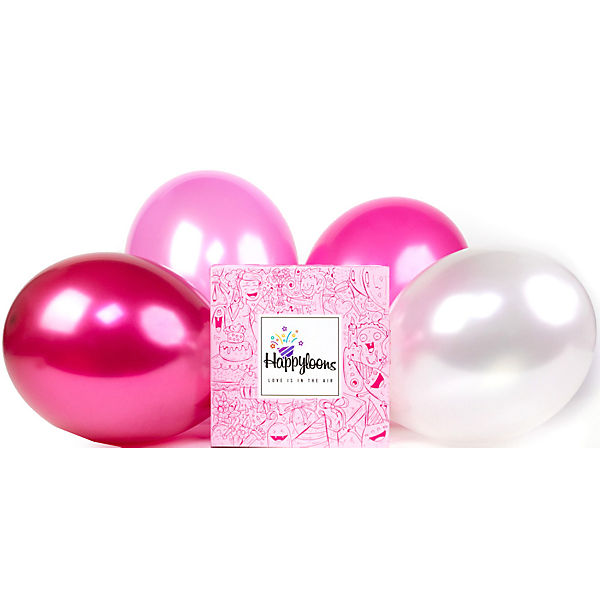 Luftballons Pink Princess 80er Box