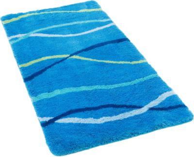 Pacific Badteppich Nevis Streifen blau Gr. 55 x 65 | Bad > Badgarnituren > Läufer & Matten | Pacific
