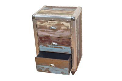 Schubkastenkommode mit 3 Schubladen bunt