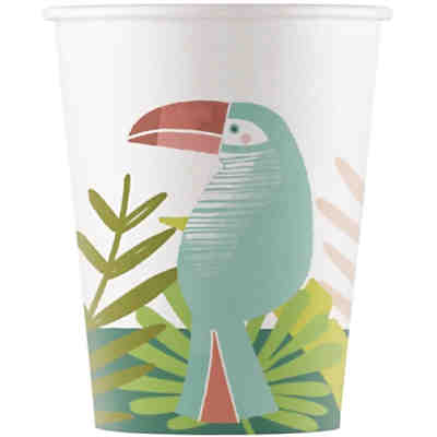 Toucan 8 Pappbecher 200ml Design Toucan