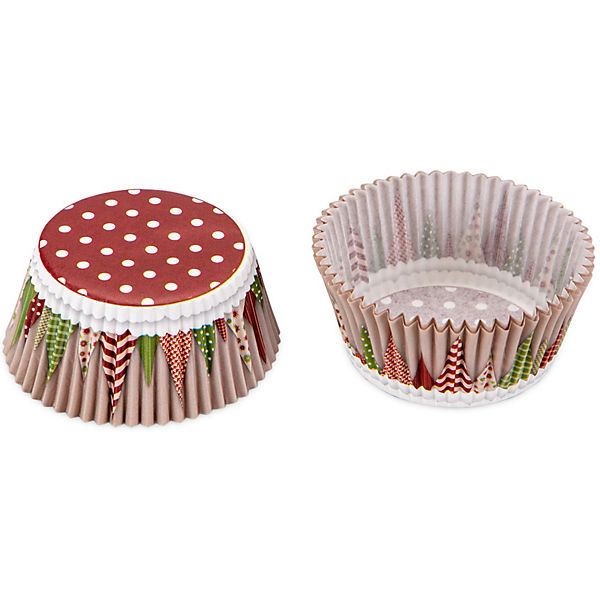 "50-er Set Papier-Backform ""Yummy Christmas"", 50 x 32mm"