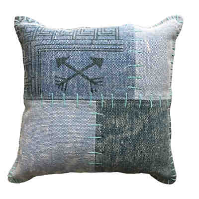 Vintage-Kissen - Lyrical Pillow 210 Multi / Blau