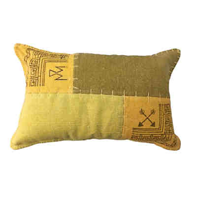 Vintage-Kissen - Lyrical Pillow 210 Multi / Gelb
