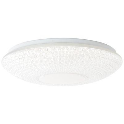 Brilliant Nunya LED Deckenleuchte 52cm weiß/chrom silber/weiß