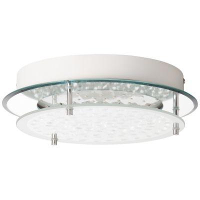 5-flammige Deckenleuchte Relaxdays Deckenlampe Kristall Lampenschirm aus Organza 39 x 39,5cm grau//silber G9-Fassung
