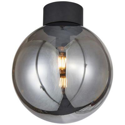 Brilliant Astro Deckenleuchte 30cm schwarz/rauchglas gold/schwarz