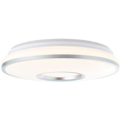 Brilliant Visitation LED Deckenleuchte 39cm weiß-silber silber/weiß
