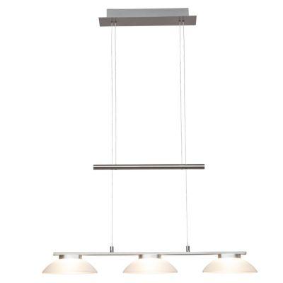 Brilliant Trend LED Pendelleuchte 3flg eisen/weiß silber