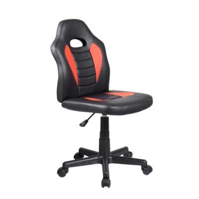 MIDORI Gaming Stuhl Drehstuhl Sportsitz Chefsessel Bürostuhl Kissen schwarz rot