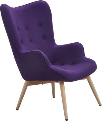 SalesFever Webstoff Sessel, B90 x T99 x H92 cm lila